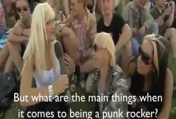 Punk rocker flashes reporter s boobs on live tv